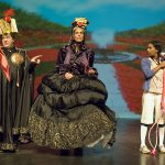King of Hearts (Alain Goulem), Queen of Hearts (Deena Aziz) and Alice (Glenda Braganza)